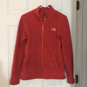 North Face Full Zip Small Coral